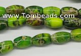 CDE145 15.5 inches 8*12mm rice dyed sea sediment jasper beads