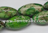 CDE148 15.5 inches 15*30mm rice dyed sea sediment jasper beads