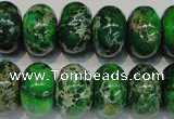 CDE165 15.5 inches 11*18mm rondelle dyed sea sediment jasper beads