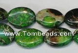 CDE183 15.5 inches 15*20mm oval dyed sea sediment jasper beads