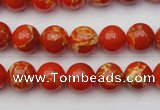 CDE2002 15.5 inches 8mm round dyed sea sediment jasper beads