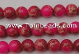 CDE2011 15.5 inches 4mm round dyed sea sediment jasper beads