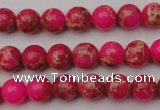 CDE2012 15.5 inches 6mm round dyed sea sediment jasper beads