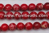 CDE2022 15.5 inches 4mm round dyed sea sediment jasper beads
