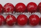 CDE2027 15.5 inches 14mm round dyed sea sediment jasper beads
