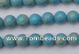 CDE2055 15.5 inches 4mm round dyed sea sediment jasper beads