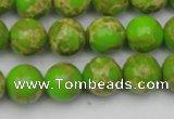 CDE2069 15.5 inches 10mm round dyed sea sediment jasper beads