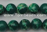 CDE2081 15.5 inches 12mm round dyed sea sediment jasper beads