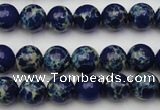CDE2089 15.5 inches 6mm round dyed sea sediment jasper beads
