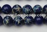 CDE2091 15.5 inches 10mm round dyed sea sediment jasper beads