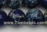 CDE2097 15.5 inches 22mm round dyed sea sediment jasper beads