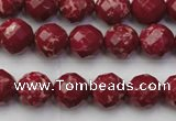CDE2131 15.5 inches 8mm faceted round dyed sea sediment jasper beads