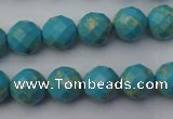 CDE2151 15.5 inches 8mm faceted round dyed sea sediment jasper beads