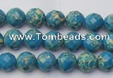 CDE2160 15.5 inches 6mm faceted round dyed sea sediment jasper beads