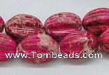 CDE22 15.5 inches 15*20mm star fruit shaped dyed sea sediment jasper beads