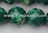 CDE2209 15.5 inches 24mm faceted round dyed sea sediment jasper beads