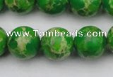 CDE2225 15.5 inches 14mm round dyed sea sediment jasper beads