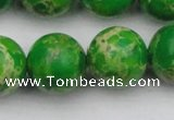 CDE2227 15.5 inches 18mm round dyed sea sediment jasper beads