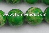 CDE2228 15.5 inches 20mm round dyed sea sediment jasper beads
