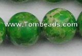 CDE2230 15.5 inches 24mm round dyed sea sediment jasper beads
