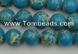 CDE2233 15.5 inches 8mm round dyed sea sediment jasper beads