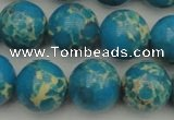 CDE2236 15.5 inches 14mm round dyed sea sediment jasper beads