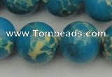 CDE2239 15.5 inches 20mm round dyed sea sediment jasper beads