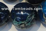 CDE224 15.5 inches 24mm round dyed sea sediment jasper beads