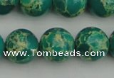 CDE2247 15.5 inches 14mm round dyed sea sediment jasper beads