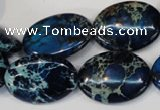 CDE236 15.5 inches 18*25mm oval dyed sea sediment jasper beads