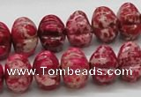 CDE24 15.5 inches 10*14mm pumpkin dyed sea sediment jasper beads