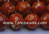 CDE2501 15.5 inches 16mm faceted round dyed sea sediment jasper beads