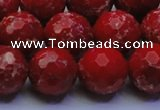 CDE2515 15.5 inches 16mm faceted round dyed sea sediment jasper beads