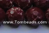 CDE2533 15.5 inches 24mm faceted round dyed sea sediment jasper beads