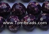 CDE2537 15.5 inches 18mm faceted round dyed sea sediment jasper beads