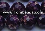 CDE2538 15.5 inches 20mm faceted round dyed sea sediment jasper beads