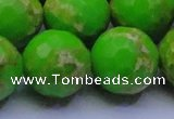 CDE2561 15.5 inches 24mm faceted round dyed sea sediment jasper beads
