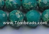 CDE2566 15.5 inches 18mm faceted round dyed sea sediment jasper beads