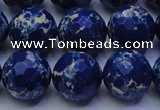 CDE2580 15.5 inches 16mm faceted round dyed sea sediment jasper beads