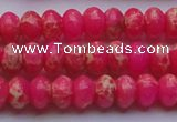 CDE2610 15.5 inches 8*12mm rondelle dyed sea sediment jasper beads