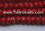 CDE2617 15.5 inches 7*10mm rondelle dyed sea sediment jasper beads