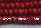CDE2618 15.5 inches 8*12mm rondelle dyed sea sediment jasper beads