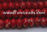 CDE2619 15.5 inches 10*14mm rondelle dyed sea sediment jasper beads