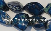 CDE262 15.5 inches 18*20mm nugget dyed sea sediment jasper beads