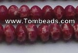 CDE2629 15.5 inches 13*18mm rondelle dyed sea sediment jasper beads