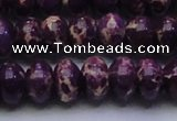 CDE2638 15.5 inches 15*20mm rondelle dyed sea sediment jasper beads