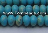 CDE2645 15.5 inches 13*18mm rondelle dyed sea sediment jasper beads