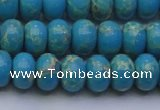 CDE2651 15.5 inches 10*14mm rondelle dyed sea sediment jasper beads