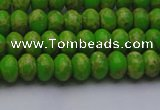 CDE2656 15.5 inches 5*8mm rondelle dyed sea sediment jasper beads
