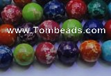 CDE2690 15.5 inches 8mm round mixed color sea sediment jasper beads